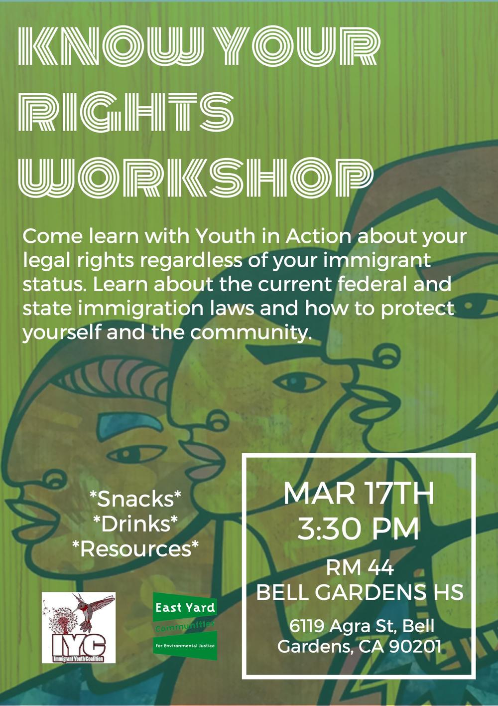 know your rights workshop flyer