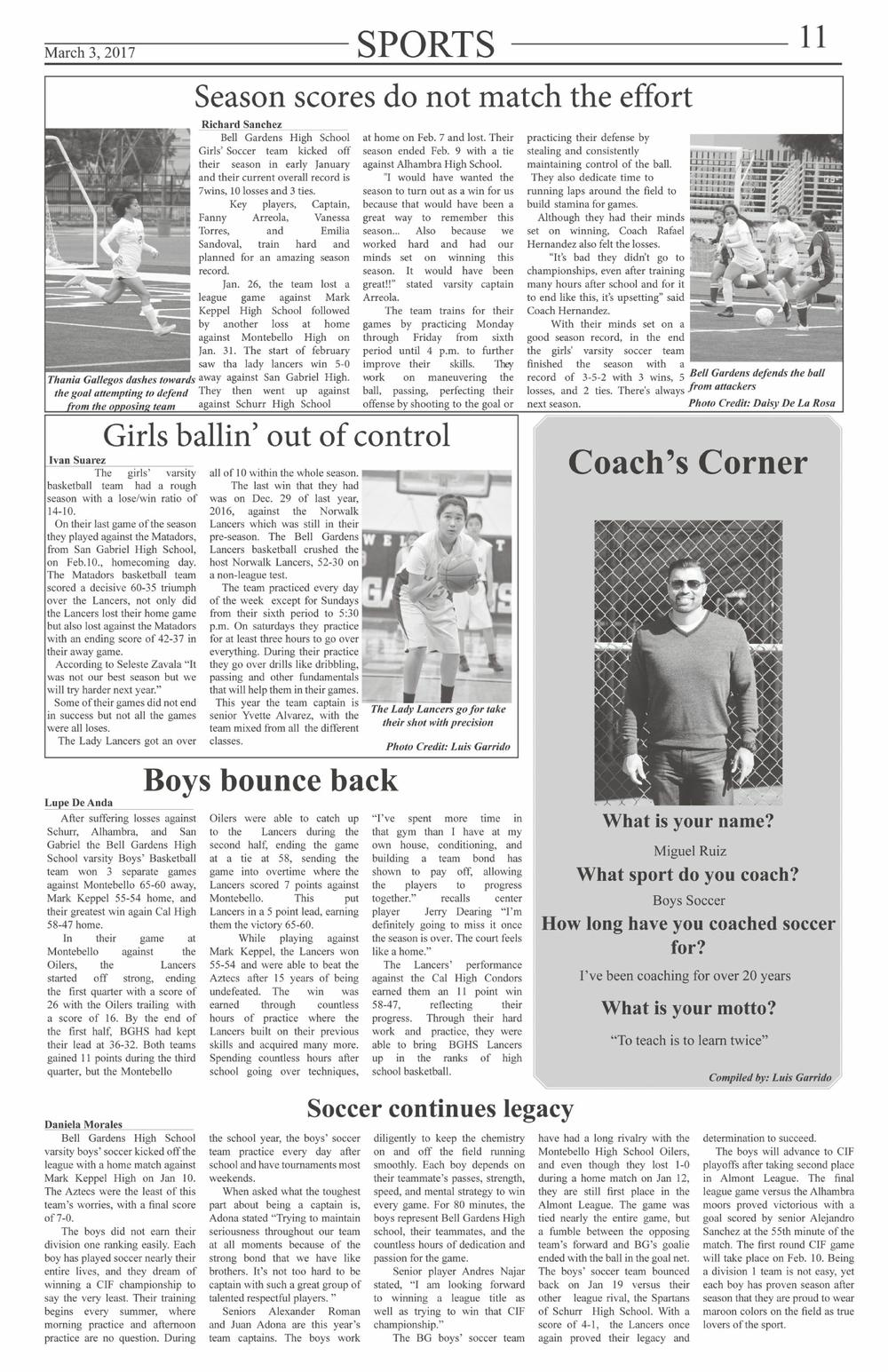 Sports page 11